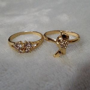Butterfly & bird ring size 9